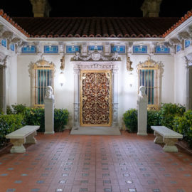 Casa Del Mar at Night | Hearst Castle